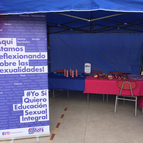 Estuvimos en la Feria de la Sexualidad y Género del Liceo Bicentenario de Niñas de Maipú