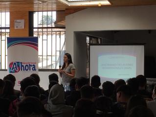 Tercera charla junto a estudiantes de IIº medio en el CP Carlos Condell