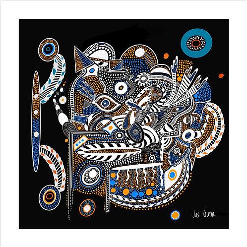Tribal Flows (Original) Print
