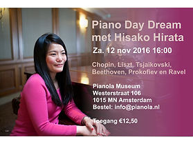 piano concert, Hisako, Amsterdam, pianist, Pianola museum, classic