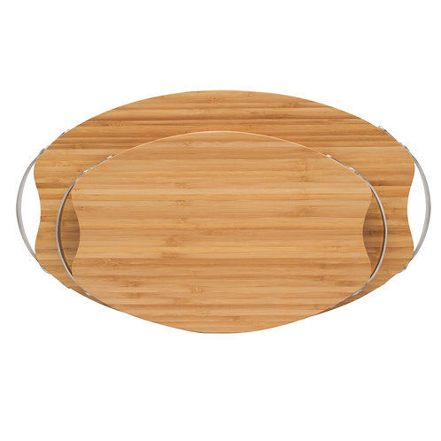 MULTI USE BAMBOO CUTTING, SERVING, CHEESE & BREAD BOARD (MEDIUM)