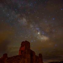 Abó Ruins Under Stars