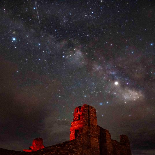 Milky Way Over Abó Ruins