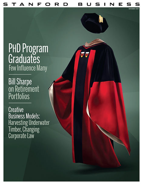 Steven Powell Design. Stanford Business front cover art direction + design.