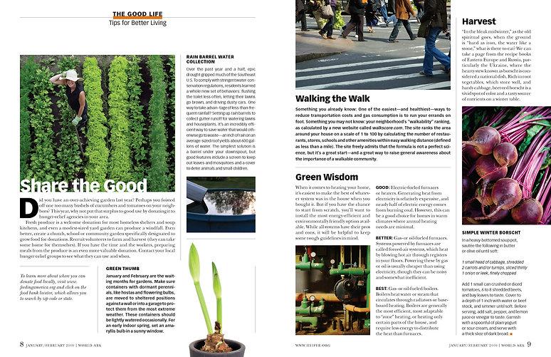 Steven Powell Design. Photo research, edit + design. Heifer department spread.