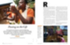 Steven Powell Design. Heifer feature spread. Photo edit and design.