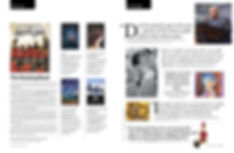 Books + News page layouts for SF State magazine