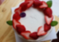 Organic strawberry cake🍓🎂🍰