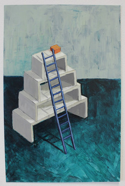 White Stack and Blue Ladder