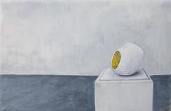 Vessel: White & Gold Round