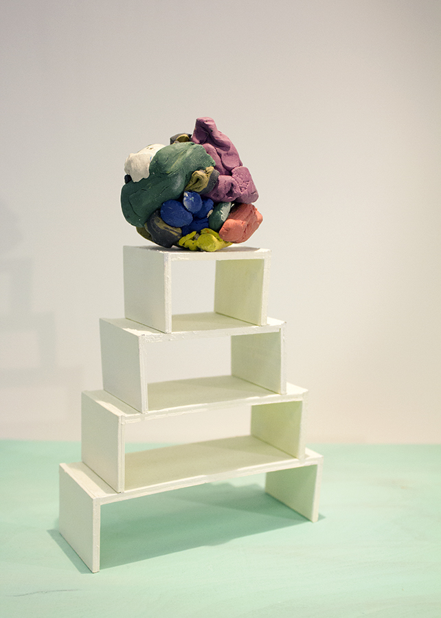 Plasticine Blob on White Stack2