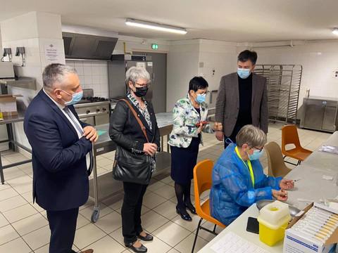 Ouverture du centre de vaccination de Bourbon-Lancy