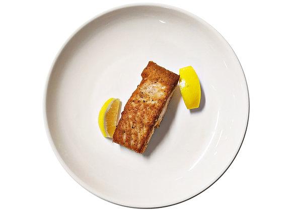 Wild Salmon with a Lemon Wedge