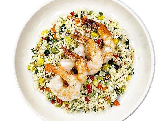 Wild Shrimp Stir Fry on Cauli Fried Rice.