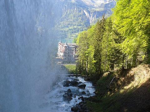 Giessbach falls lake Breinz