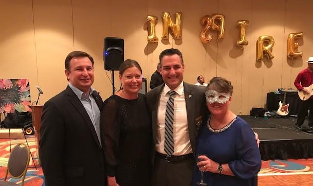 Jason Brodeur, Florida Senate Candidate, Christy Daly-Brodeur, Stephanie Ryan, Executive Director & Sheriff Dennis Lemma
