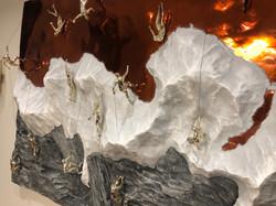 Объемная картина с альпенистами
