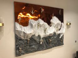 Объемная картина с альпенистами 3