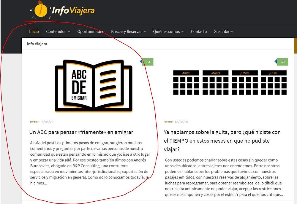 Publicaron nuestros comentarios en InfoViajera!