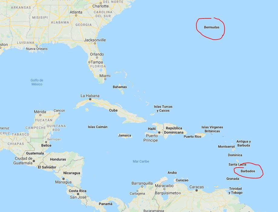 Bermuda y Barbados