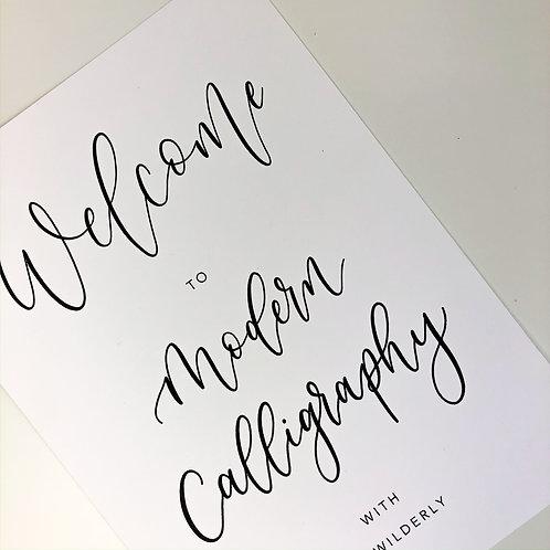 Digital Modern Calligraphy Workbook