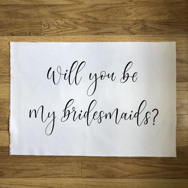 Bridesmaid Banner