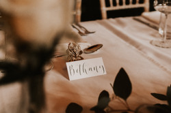 White tent fold place card
