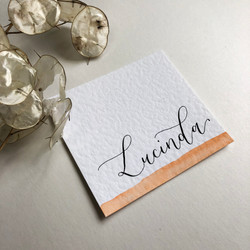 Hammer place cards with watercolour