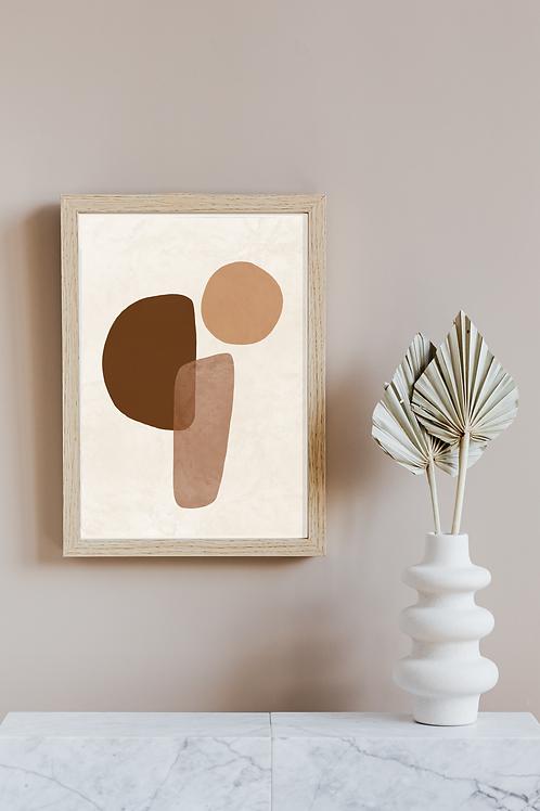 Modern Abstract Boho Art Print | Cali