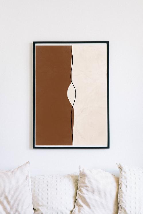 Modern Abstract Boho Art Print | Enshi
