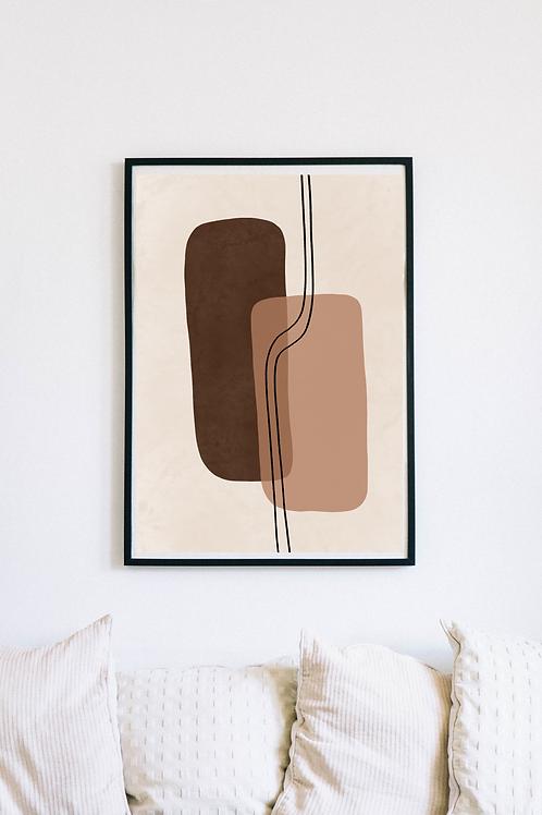Modern Abstract Boho Art Print | Deoria