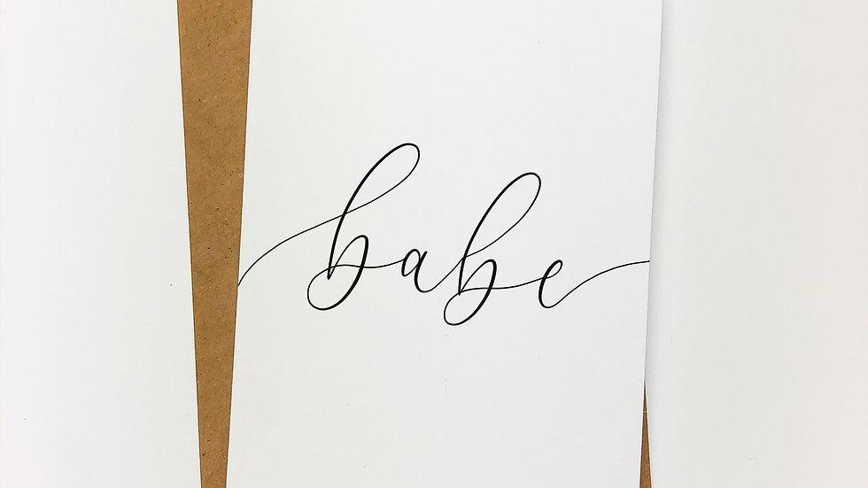 BABE CARD