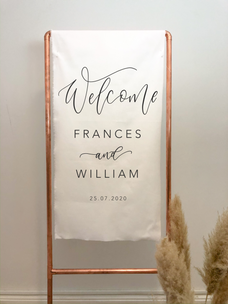 Flag Welcome Sign with Copper Frame
