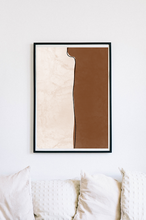 Modern Abstract Boho Art Print | Forli
