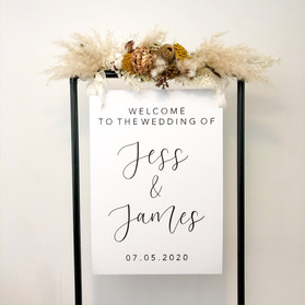 Mount Board Welcome Sign with Black Frame