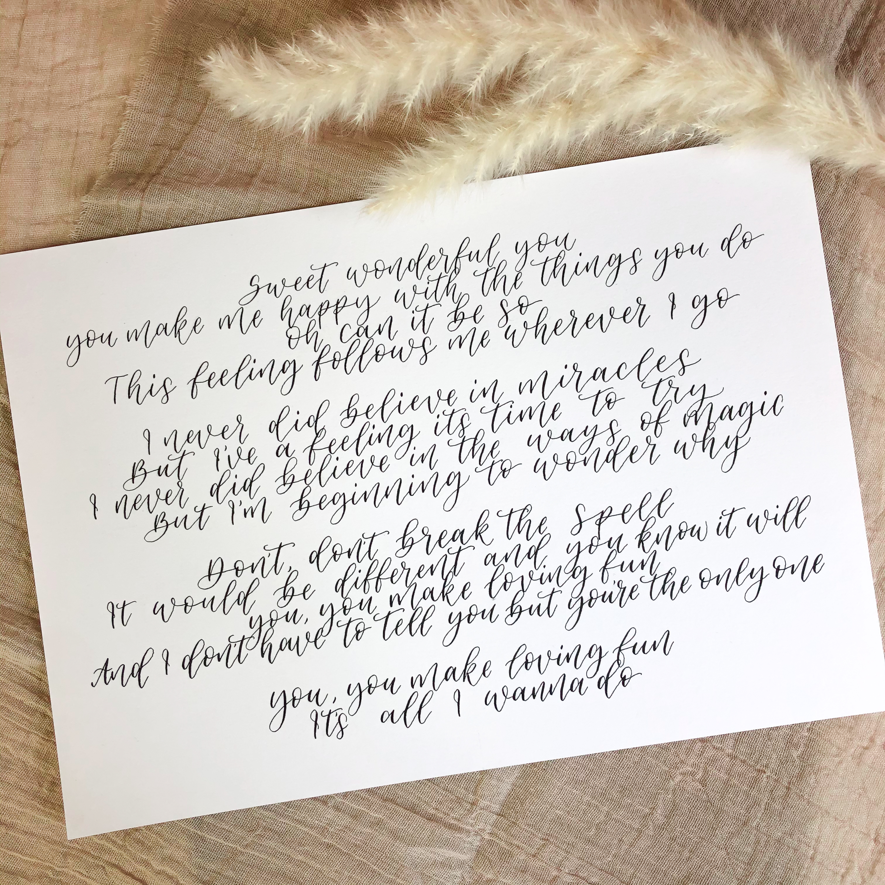 Claire Calligraphy Piece