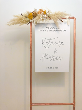 Mount Board Welcome Sign copper frame