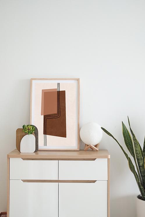 Modern Abstract Boho Art Print | Adelaide