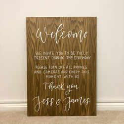 Wooden Unplugged Ceremony Board