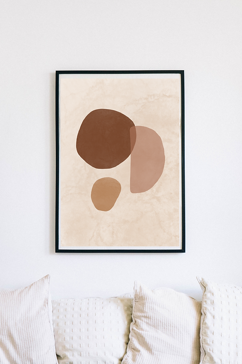 Modern Abstract Boho Art Print | Baise