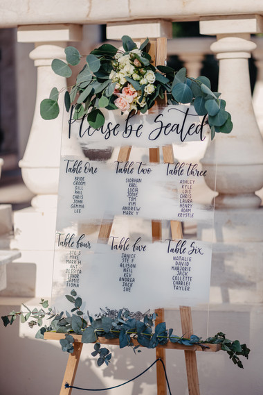 Painted Acrylic Seating Plan