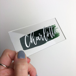 Painted Acrylic Place Name