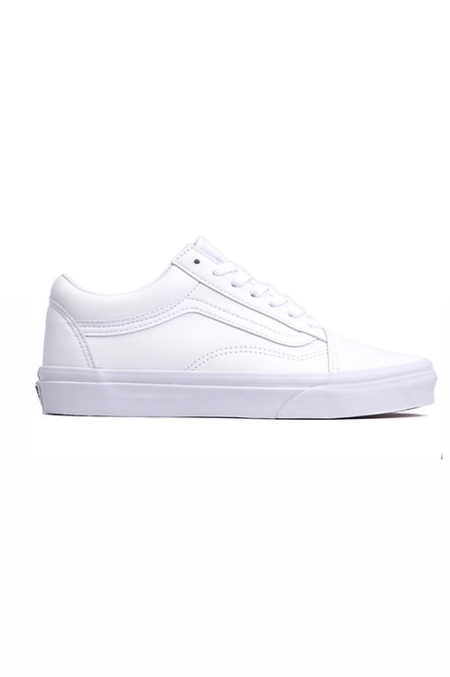 Old school True White (Tumble) Leather