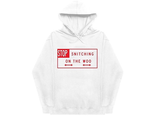 Vlone stop snitch hood red