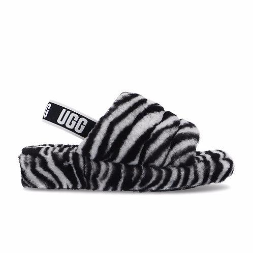Kid Fluff Yeah Slide Zebra (BWHT)