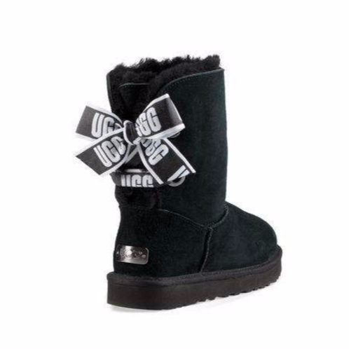 UGG Customizeable Bailey Bow Short (Black)