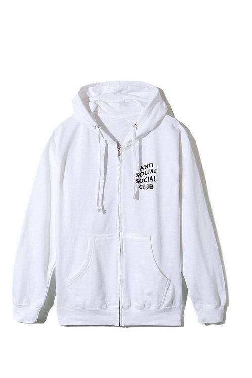 Anti Social Zip Up White