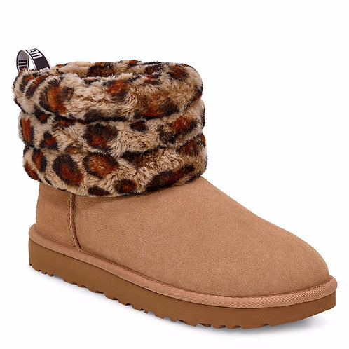 UGG Fluff Mini Quilted (Leopard)