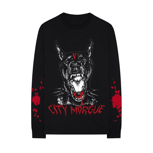 VLONE CITY MORGUE LS BLK