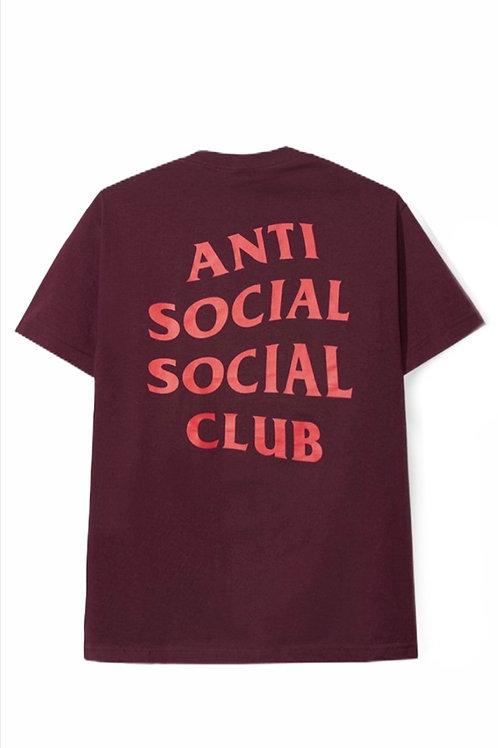 Anti Social Short Sleeve Burgundy